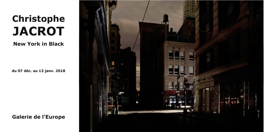 Expo // New York in Black - Christophe Jacrot  // Paris