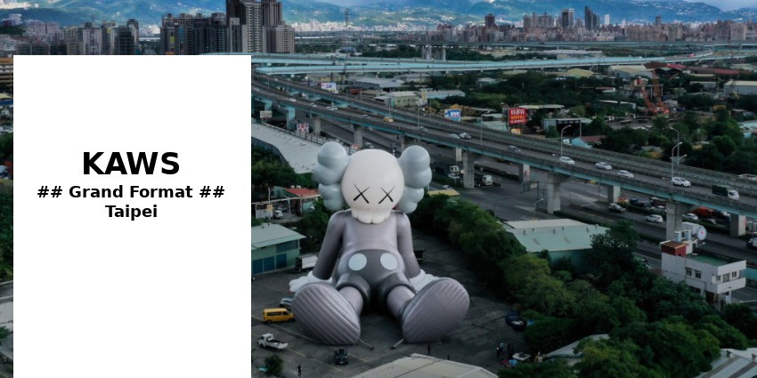 TO SEE // KAWS // ENORMOUS SCULPTURE IN TAIPEI