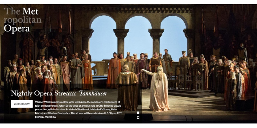 To SEE // Tannhäuser AT METROPOLITAN OPERA // FREE STREAMING