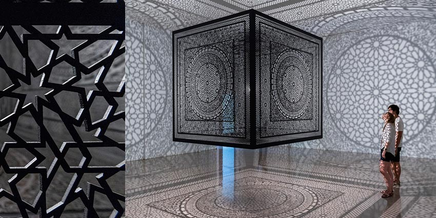 Anila Quayyum Agha - Intersections - at Rice Gallery