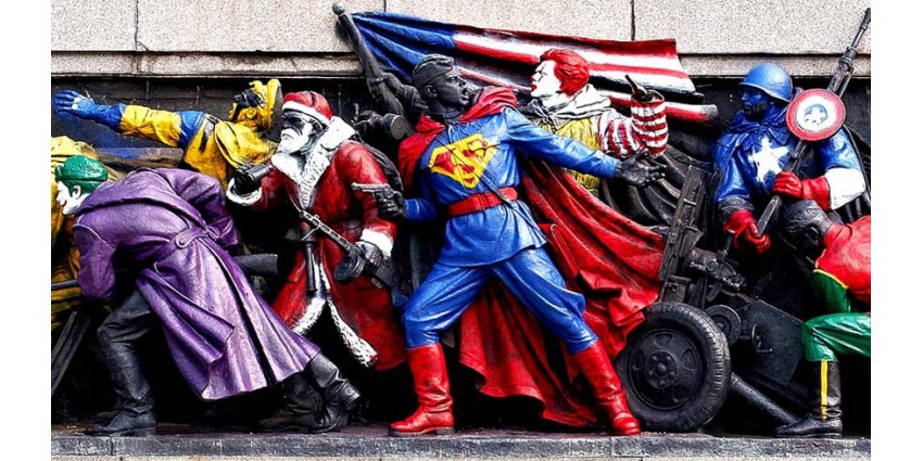 INFO // The Soviet Army transformed into Super Heroes ... Artistic gesture and / or provocation