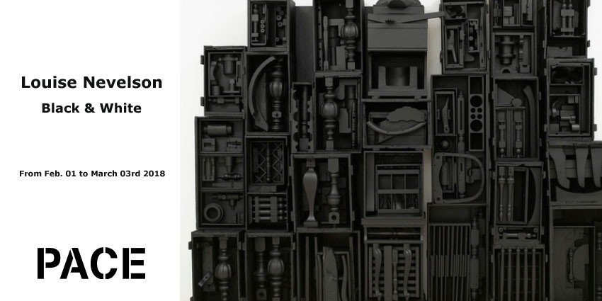 EXHIBITION // LOUISE NEVELSON - BLACK & WHITE  // PACE GALLERY // NEW YORK