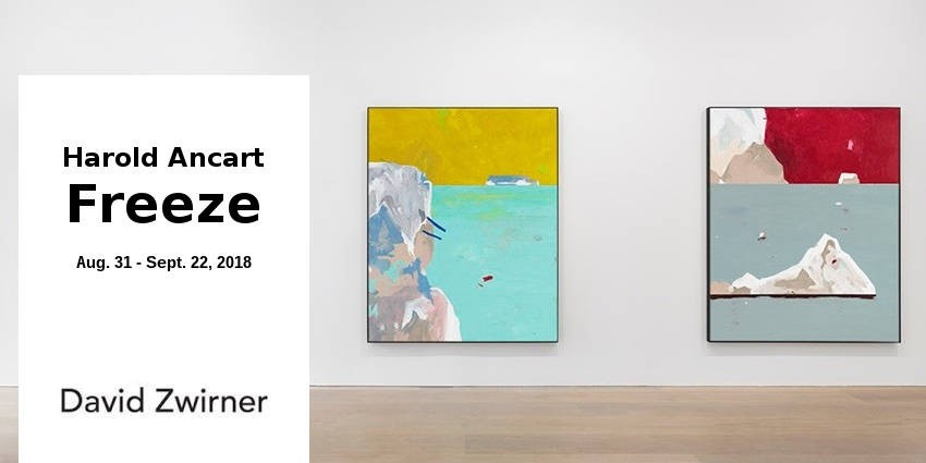 EXHIBITION //  HAROLD ANCART : FREEZE //  DAVID ZWIRNER // LONDON