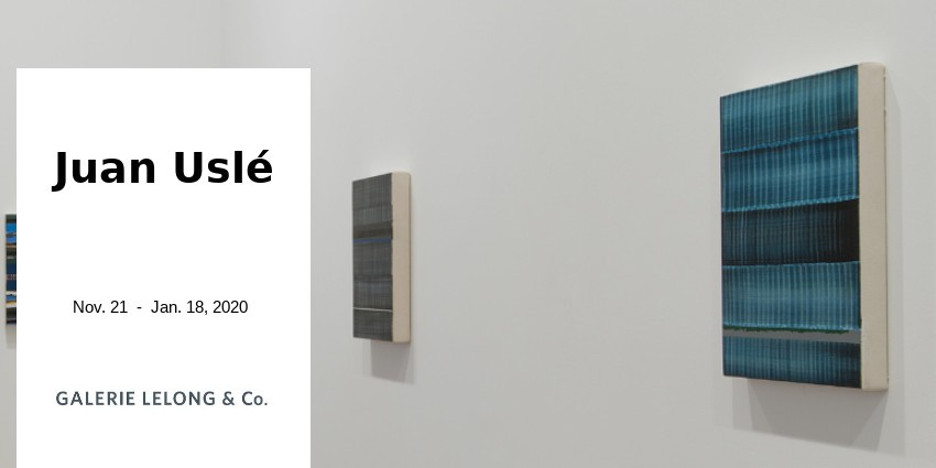 EXHIBITION // JUAN USLE - LINES & HORIZONS // GALERIE LELONG & CO // PARIS