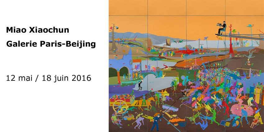 Echo - Miao Xiaochun - Galerie Paris-Beijing  from may 12th to June 18th 2016