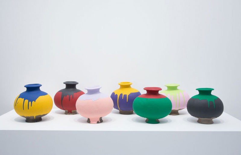 Ai Wei Wei - Lisson Gallery - Colored vases