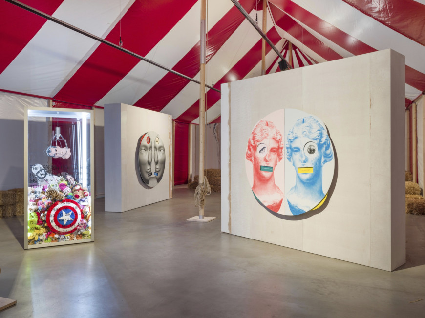 Kathryn Andrews, Circus Empire, 2019, installation view, Courtesy the artist and KÖNIG GALERIE