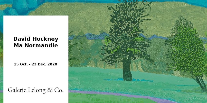 EXPO // DAVID HOCKNEY // GALERIE LELONG & CO // PARIS